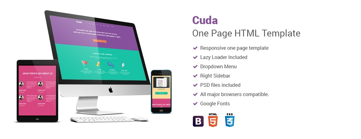 Cuda One Page HTML Template