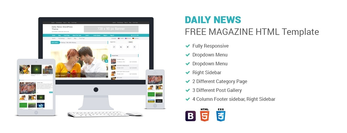 Daily News – Multipurpose Magazine HTML Template