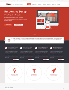 BOOM – Multi-Purpose Responsive HTML Template