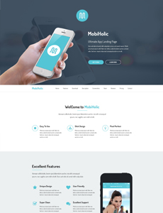 MobiHolic – Ultimate App Landing Business Template