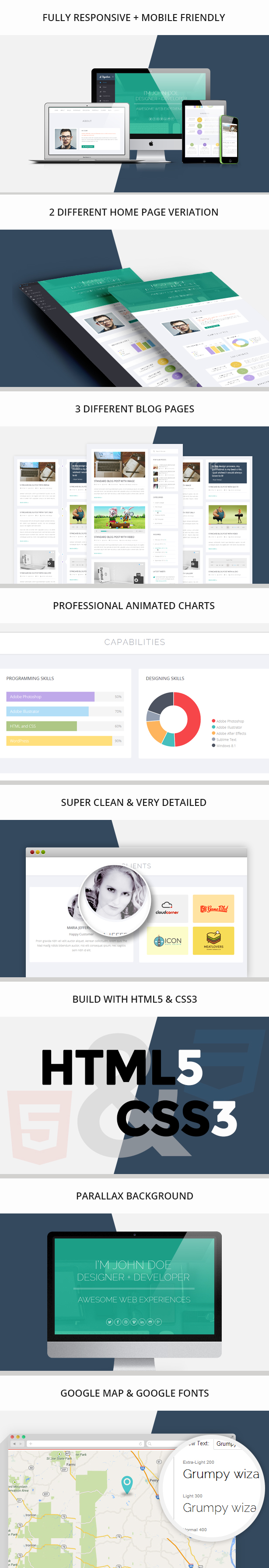Signature - One Page HTML Resume Template