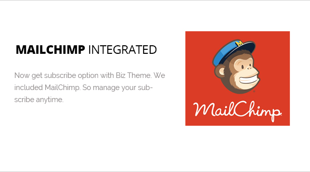 MailChimp Included