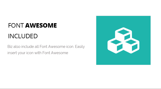 Font Awesome Icon Included