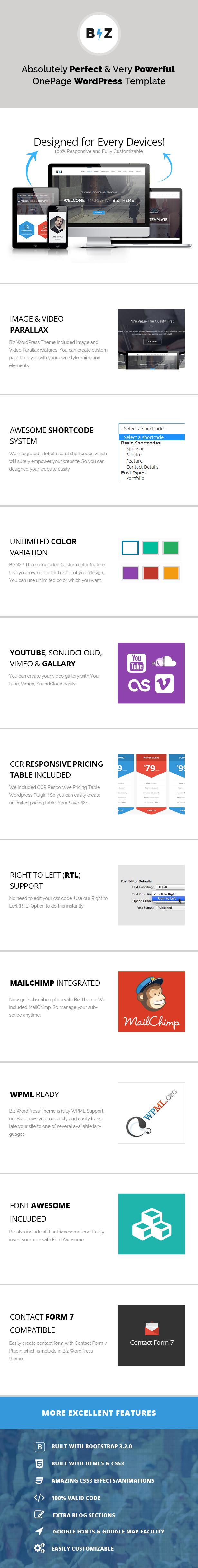 WordPress theme Biz - Multipurpose Business and Corporate Theme (Business)