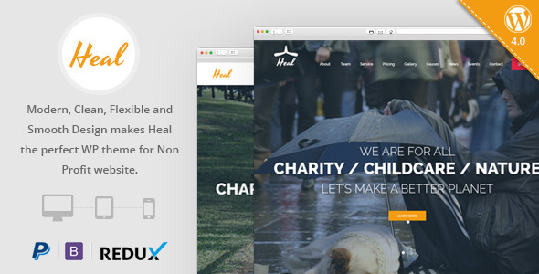 Heal - Charity WordPress Theme