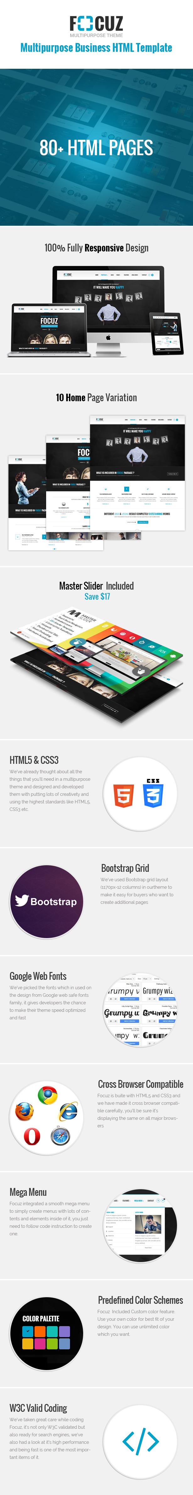 Focuz - Multipurpose Business HTML5 Template