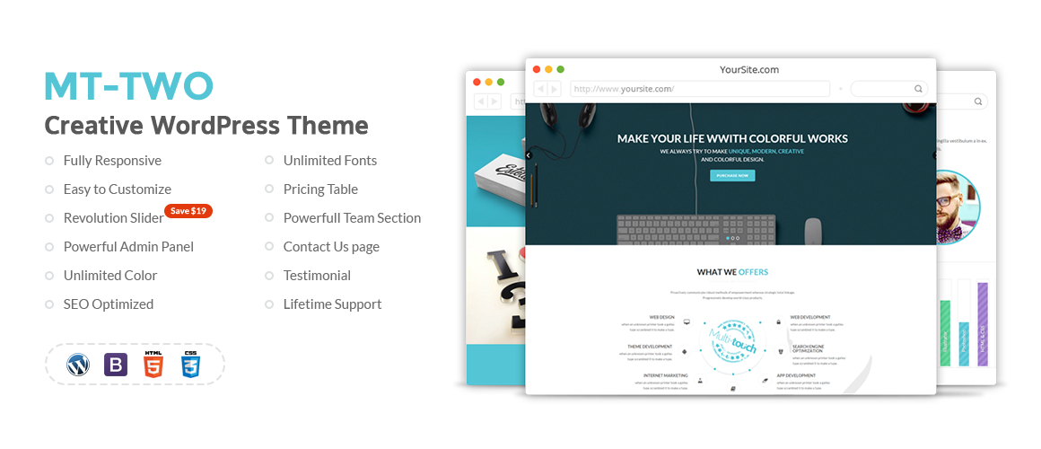 MT-Two – Creative WordPress Theme