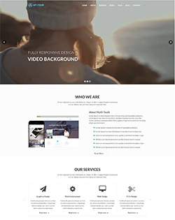 MT- Four – Free Responsive One Page WordPress Theme