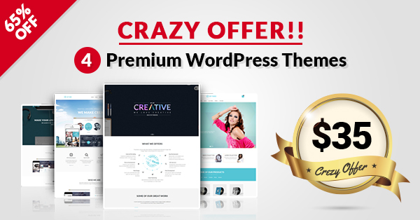4 Premium WP Themes only $35