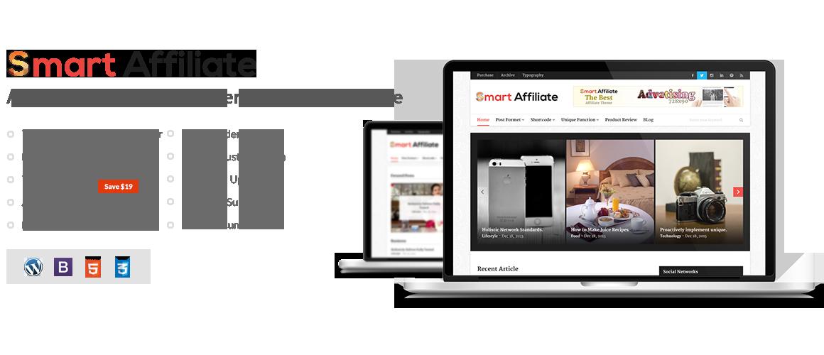 Smart Affiliate – Affiliate Marketing WordPress Theme