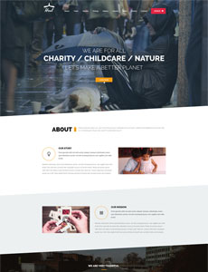 Heal – One Page Charity HTML Template