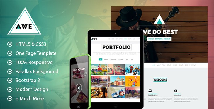 AWE - Free One Page WordPress Theme | CodexCoder