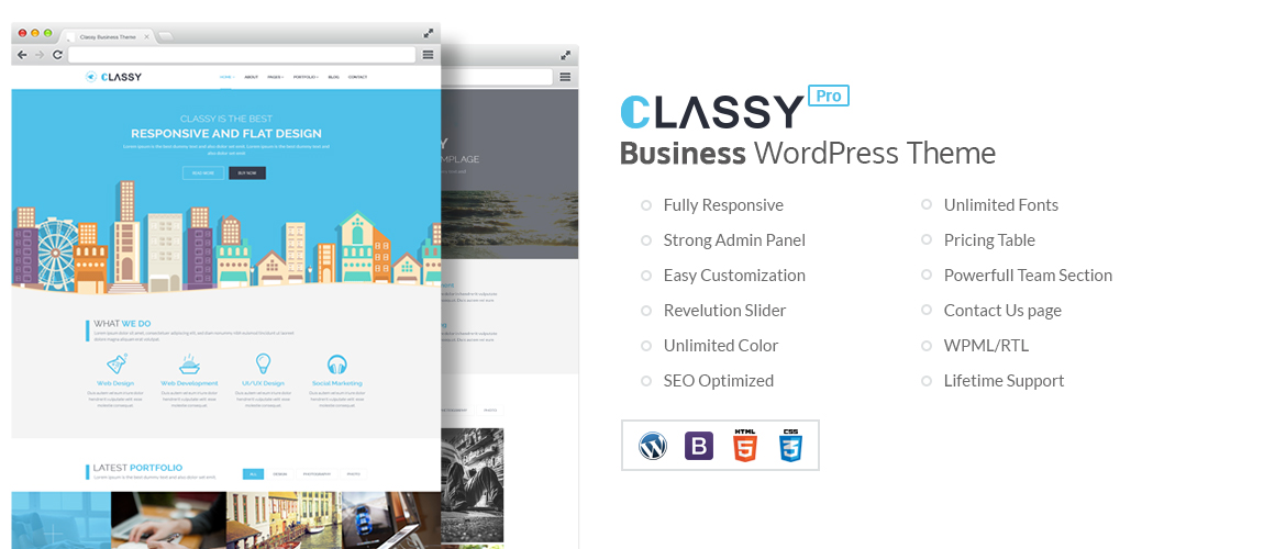 ClassyPRO – Business WordPress Theme