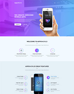AppsWorld – Responsive App Landing WordPress Theme