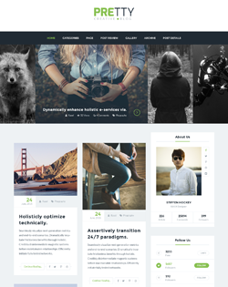 Pretty – Personal Blog WordPress Theme