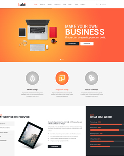 Baki – Free Responsive WordPress Theme