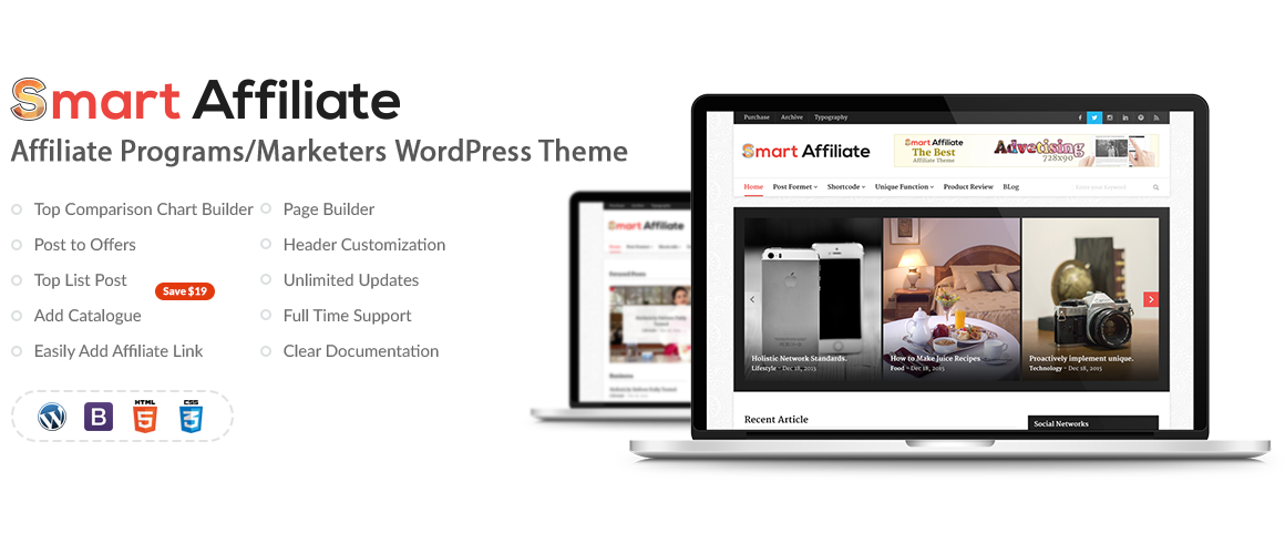 Smart Affiliate – Affiliate Marketing WordPress Theme