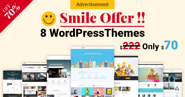 SMILE OFFER – 8 WORDPRESS THEMES BUNDLE