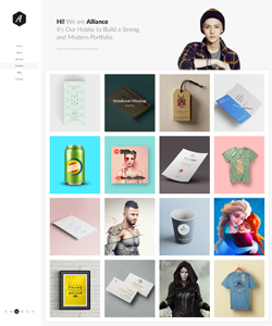 Allience – Minimal Portfolio WordPress Theme.
