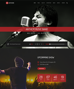 Anthem – Music Band & Musical Events WordPress Theme