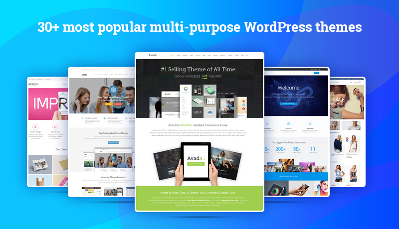 30+ most popular multi-purpose wordpress themes