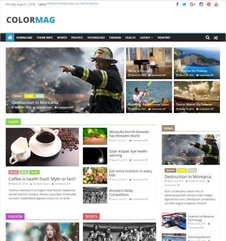 best free responsive WordPress theme
