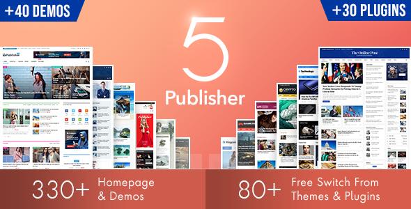 6. Newspaper WordPress Magazine Theme