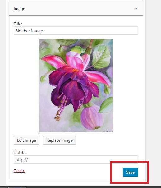 how to add image in WordPress sidebar