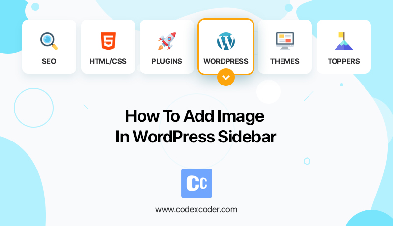how to add image in WordPress sidebar